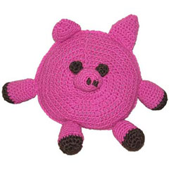 Crocheted Pig Toy