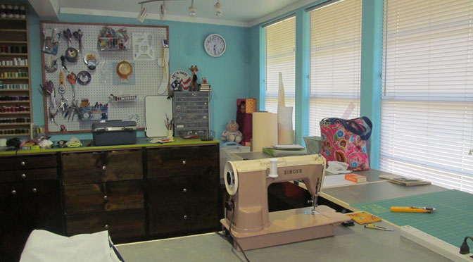 Updated Sewing Studio Space and Tables