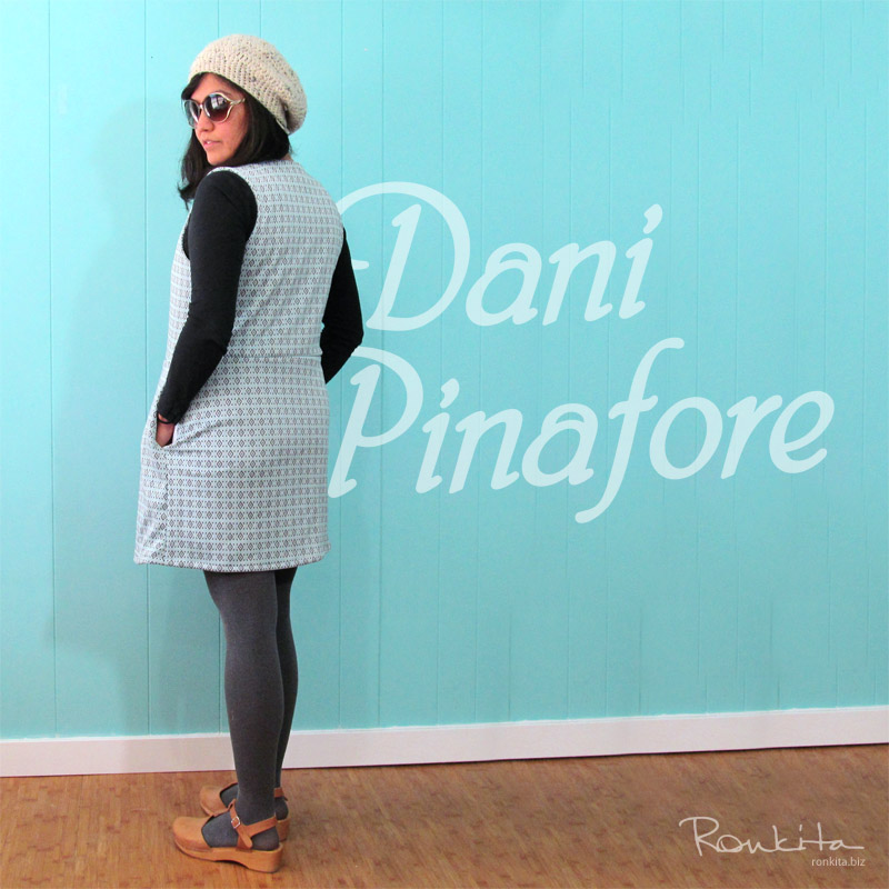 Making a Custom Dani Pinafore using Pattern from Colette Patterns